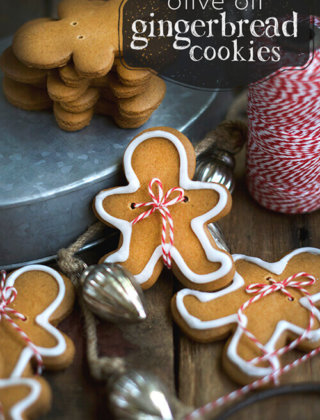 Holiday Treat: Olive Oil Gingerbread Cookies | Giveaway