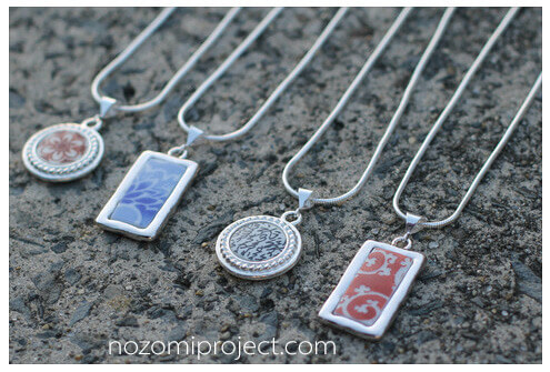 Necklaces supporting the people of Ishinomaki, Japan via The Nozomi Project