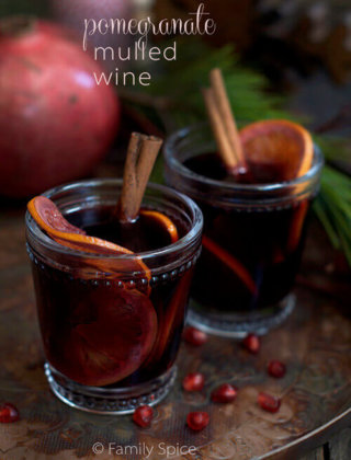 Pomegranate Mulled Wine for my Shab-e Yalda