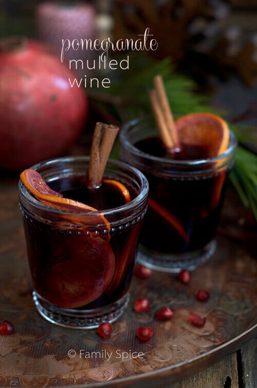 Solstice (Shab-e Yalda) with this warm, spiced Pomegranate Mulled Wine ...