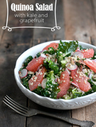 Eating Light: Quinoa Salad with Kale and Grapefruit