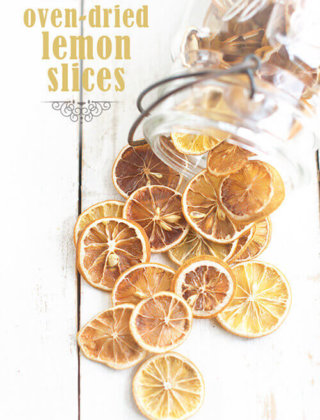 Oven Dried Lemon Slices – No Dehydrator Needed!  {Video}