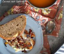 Toasted Brie Sandwich with Caramelized Onions and Raisins by FamilySpice.com