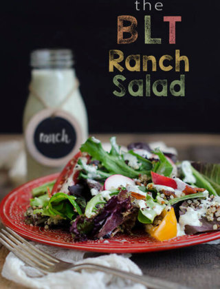 The BLT Ranch Salad with Quinoa | Wolf Gourmet Blender Giveaway ($600 value)
