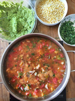 Kids Do Eat Real Food | Chicken Tortilla Soup and a Wrap Up of my Kids Cooking Camp by FamilySpice.com