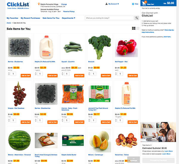 Shopping made easy with Ralphs Click List by FamilySpice.com