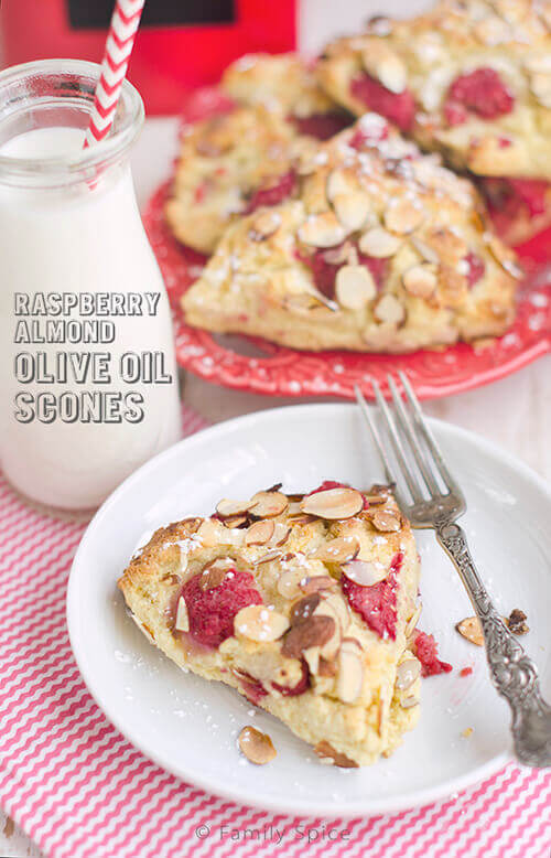 Raspberry Almond Olive Oil Scones by FamilySpice.com