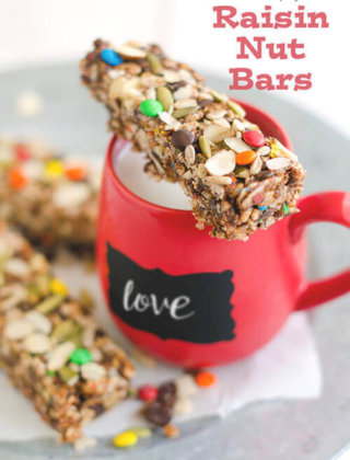 Back-to-School Snacks: No-Bake Crispy Raisin Nut Bars