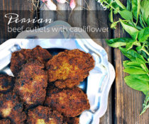 Persian Beef Cutlets with Potatoes and Cauliflower by FamilySpice.com