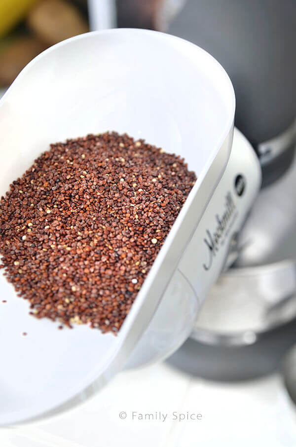 How to Mill Quinoa Flour by FamilySpice.com