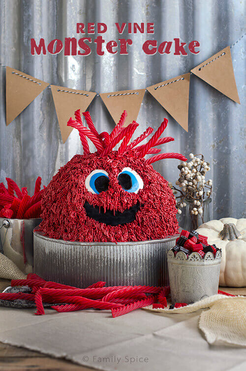 How to Make a How to Make a Red Vine Monster Cake - FamilySpice.com