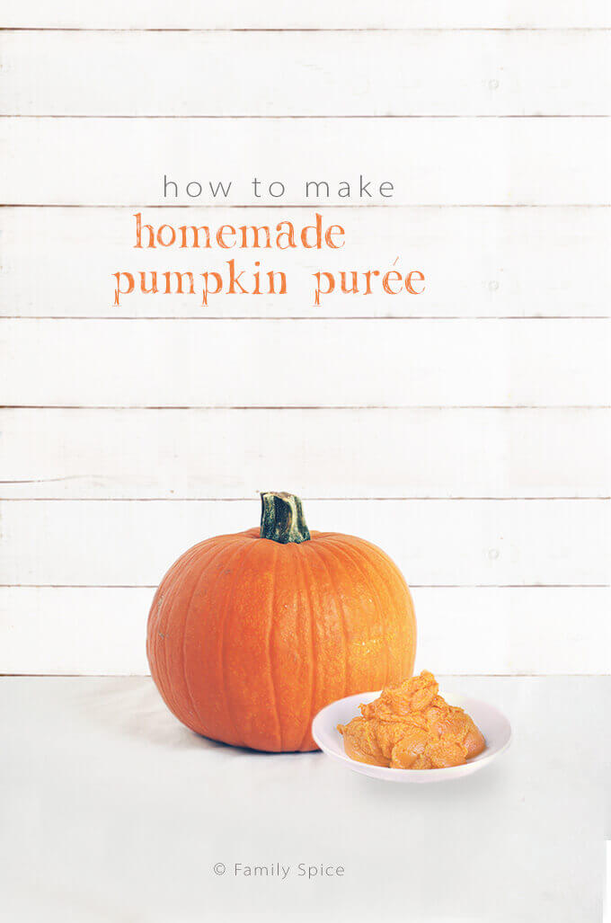 How to Make Homemade Pumpkin Puree by FamilySpice.com