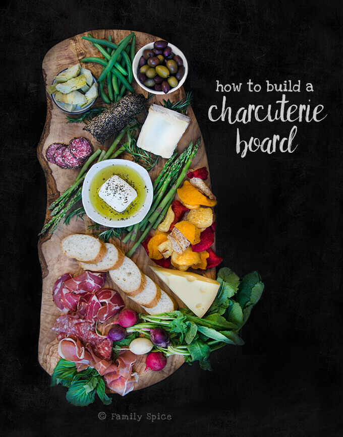 How to Build a Charcuterie Board and Olivewood Board Giveaway (ends December 12, 2016) - by FamilySpice.com