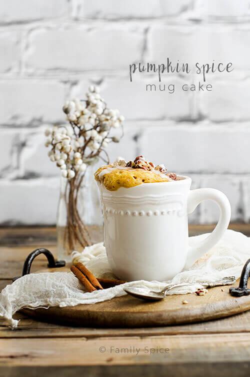 Pumpkin Spice Mug Cake by FamilySpice.com