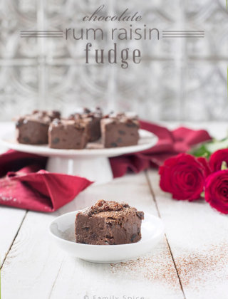 Chocolate Rum Raisin Fudge