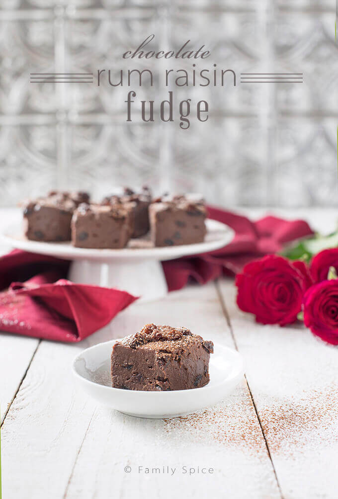 Chocolate Rum Raisin Fudge by FamilySpice.com