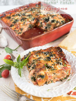 Spinach and Idaho® Potato Lasagna for Meatless Monday