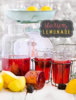 When you can't wait for summer, this blackberry lemonade will take you away to lazy summer days, laughter and fun in the sun - by FamilySpice.com