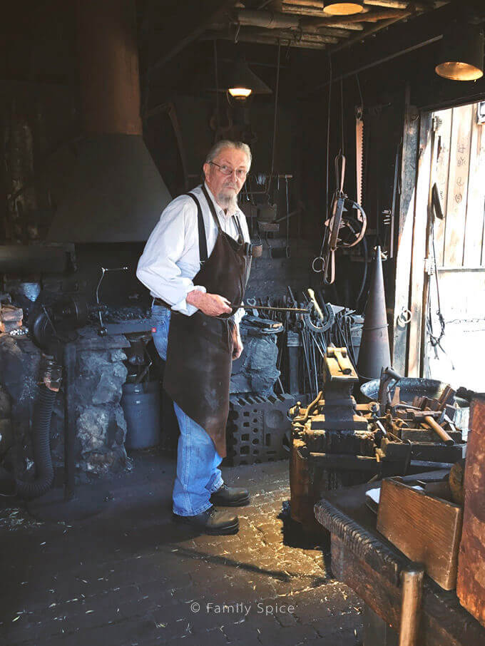 The blacksmith during Knott's Berry Farm's Boysenberry Festival - by FamilySpice.com