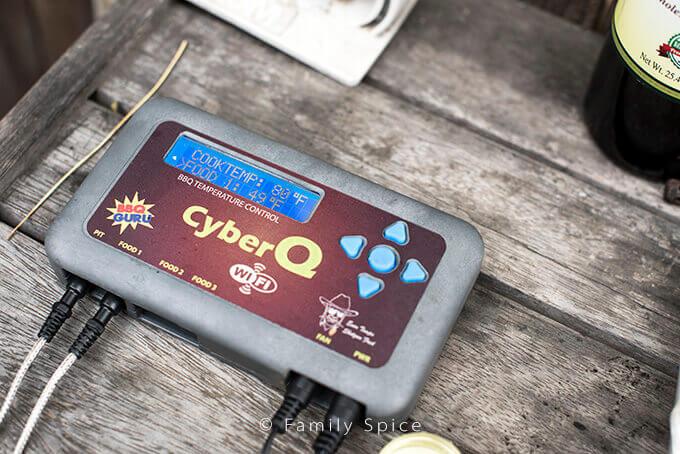 BBQ Guru's CyberQ used on a Big Steel Keg by FamilySpice.com