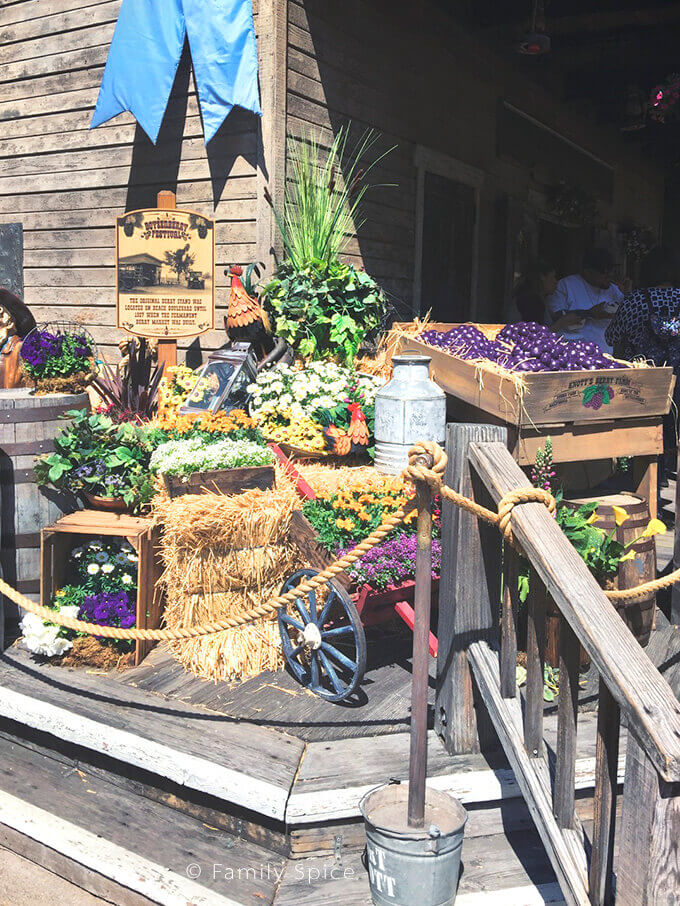 Farm stand during Knott's Berry Farm's Boysenberry Festival - by FamilySpice.com