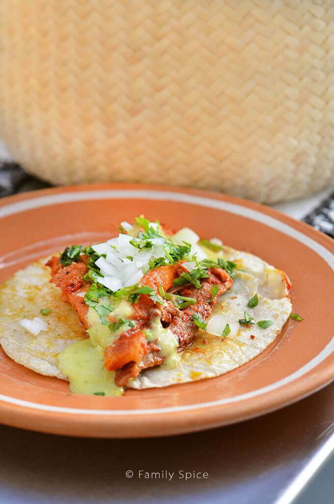 Homemade Tacos de Adobada by Celebrity Chef Marcela Valladolid - FamilySpice.com #HerdezAtCasaMarcela