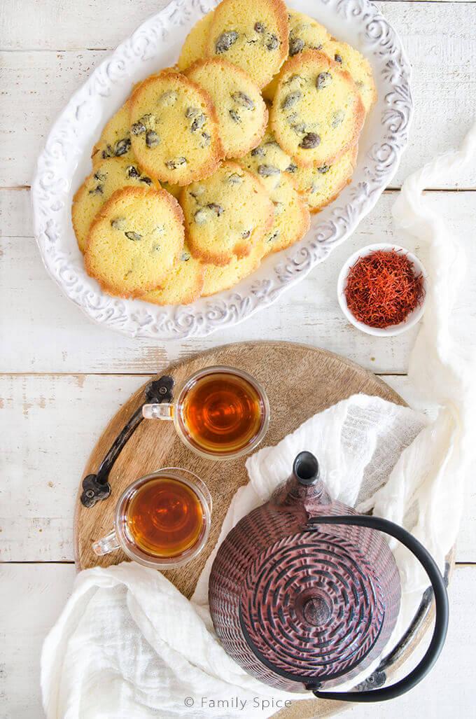 Persian Saffron Raisin Cookies (shirini kishmishi) by FamilySpice.com