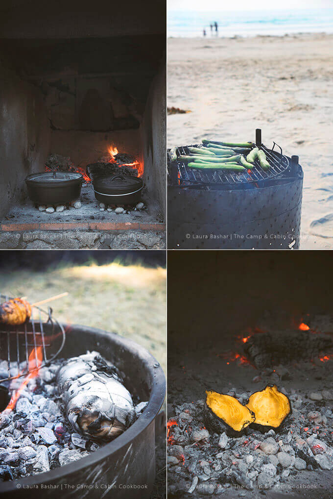 Multiple Outdoor Cooking Techniques from in The Camp & Cabin Cookbook: 100 Recipes to Prepare Wherever You Go by Laura Bashar of FamilySpice.com