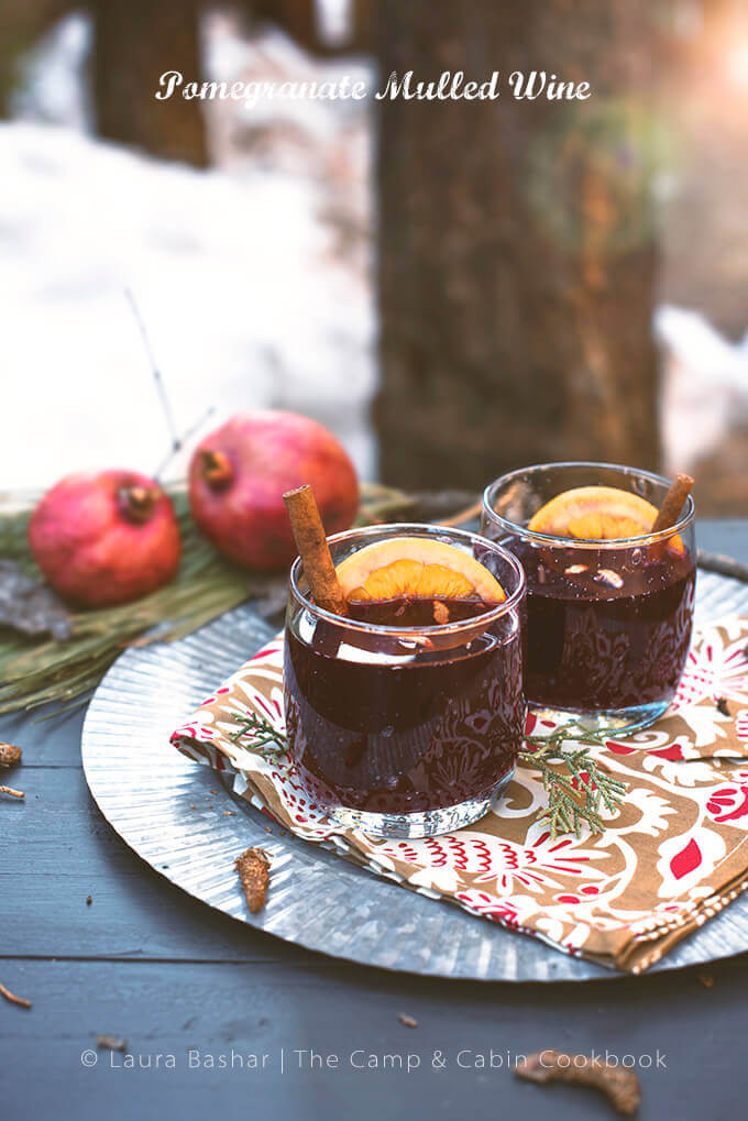 Pomegranate Mulled Wine from The Camp & Cabin Cookbook: 100 Recipes to Prepare Wherever You Go by Laura Bashar of FamilySpice.com
