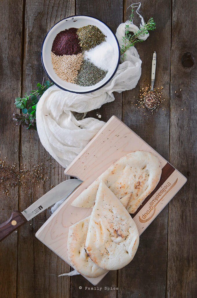 Flatbreadl and Za'atar by FamilySpice.com