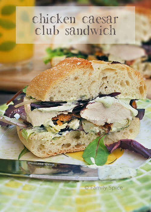 Chicken Caesar Club Sandwich