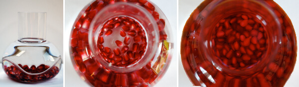 Pomegranate Infused Vodka  Detail