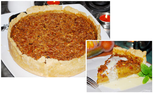Rustic Pumpkin-Pecan Pie with Whiskey Butter Sauce