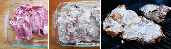 Yogurt Marinated Leg of Lamb Detail