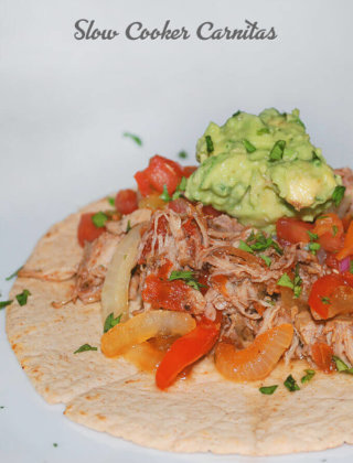 Slow Cooker Carnitas by FamilySpice.com