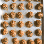 Pinterest image for oven baked meatballs by FamilySpice.com