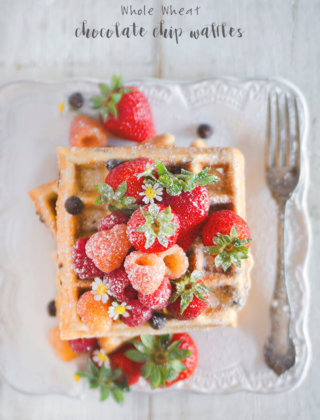 Mother's Day Brunch: Whole Wheat Chocolate Chip Waffles