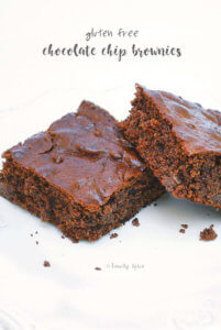 Gluten Free Chocolate Chip Brownies by FamilySpice.com