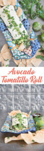 The Avocado Tomatillo Roll by FamilySpice.com
