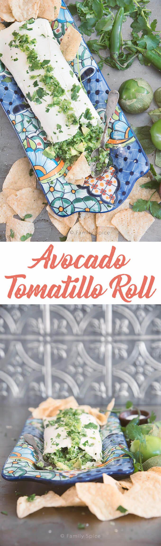 The Avocado Tomatillo Roll by FamilySpice.com