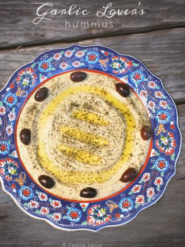 Garlic Lover's Hummus by Familyspice.com