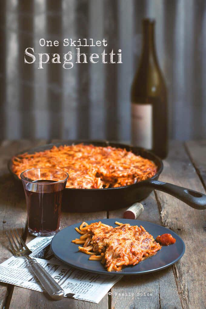 One Skillet Spaghetti by FamilySpice.com
