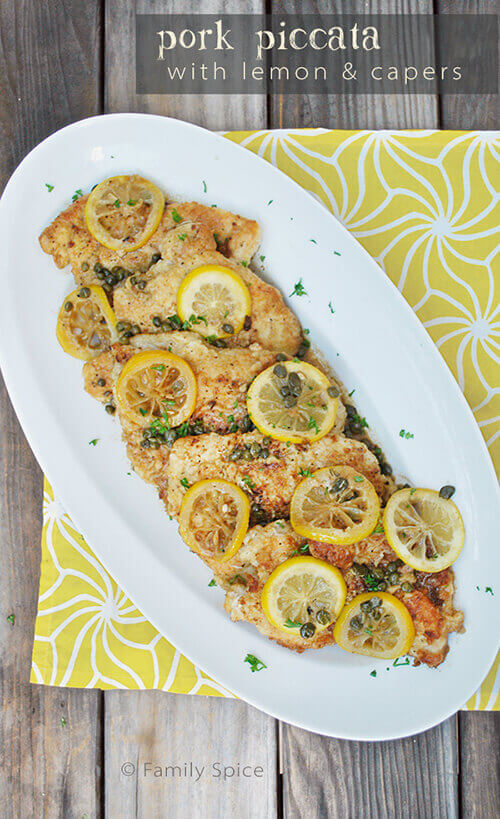Pork Piccata with Lemon and Capers by Family Spice.com