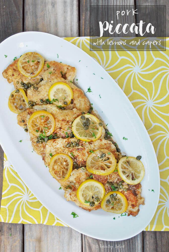 Pork Piccata with Lemon and Capers by FamilySpice.com