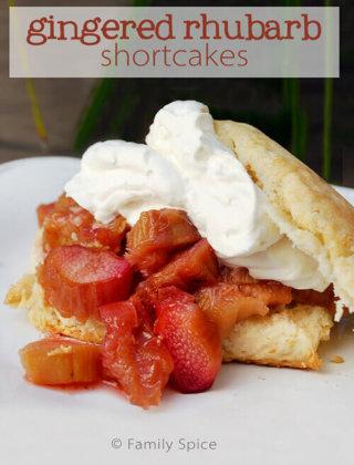 Gingered Rhubarb Shortcake