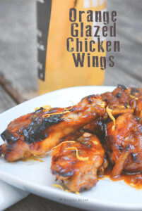 Oven Baked Orange Glazed Chicken Wings by FamilySpice.com