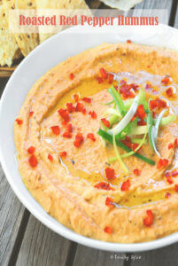 Roasted Red Pepper Hummus by FamilySpice.com