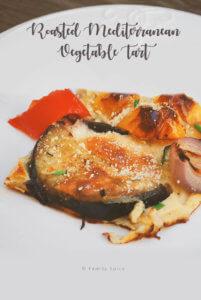 Roasted Mediterranean Vegetable Tart by FamilySpice.com