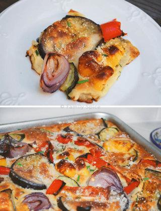Roasted Mediterranean Vegetable Tart