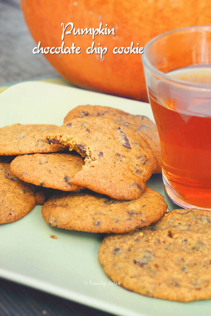 Pumpkin Chocolate Chip Cookies by FamilySpice.com